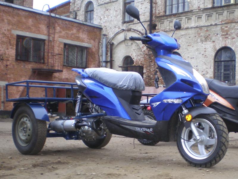трицикл из скутера своими руками чертежи видео